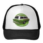 furgoneta larga del verde del tejado del nash gorros bordados
