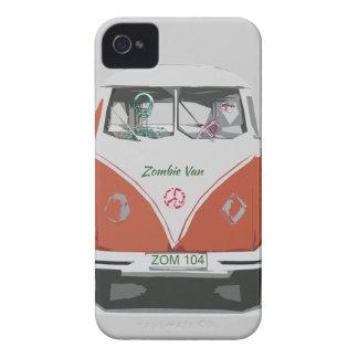 Furgoneta linda del zombi con las cubiertas del funda para iPhone 4 de Case-Mate
