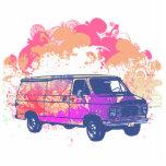 furgoneta retra del hippie del grunge escultura fotografica