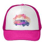 furgoneta retra del hippie del grunge gorras de camionero