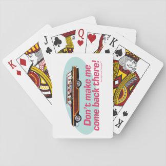 Furgoneta retra (rosa y azul) baraja de cartas