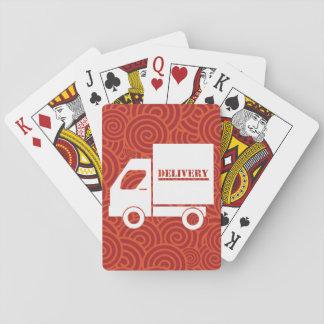 Furgonetas de entrega mínimas baraja de póquer