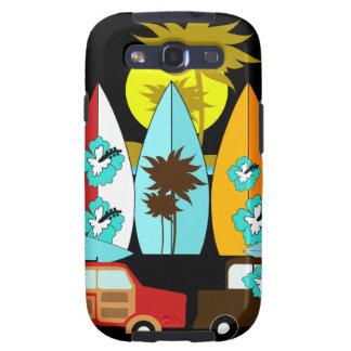 Furgonetas del Hippie de la persona que practica s Galaxy S3 Cárcasas