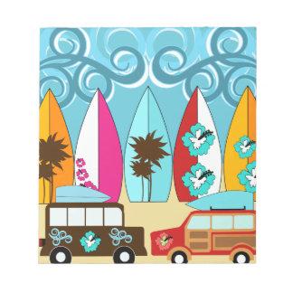 Furgonetas del Hippie del vago de la playa de las Libretas Para Notas