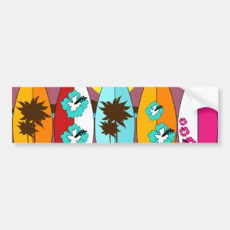 Furgonetas del Hippie del vago de la playa de las  Pegatina Para Auto