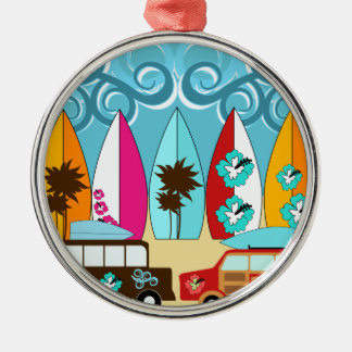 Furgonetas del Hippie del vago de la playa de las Ornamentos De Navidad