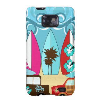 Furgonetas del Hippie del vago de la playa de las  Galaxy SII Carcasas