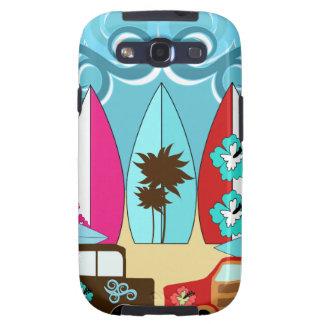 Furgonetas del Hippie del vago de la playa de las  Galaxy S3 Funda