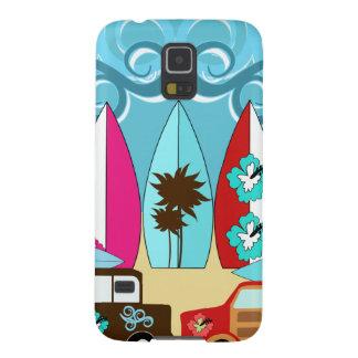 Furgonetas del Hippie del vago de la playa de las Funda De Galaxy S5