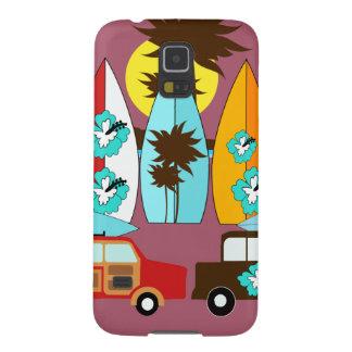 Furgonetas del Hippie del vago de la playa de las Fundas Para Galaxy S5