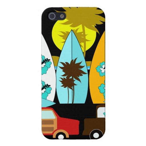 Furgonetas del Hippie del vago de la playa de las  iPhone 5 Protector