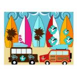 Furgonetas del Hippie del vago de la playa de las  Tarjetas Postales