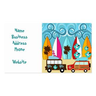 Furgonetas del Hippie del vago de la playa de las Tarjetas De Visita