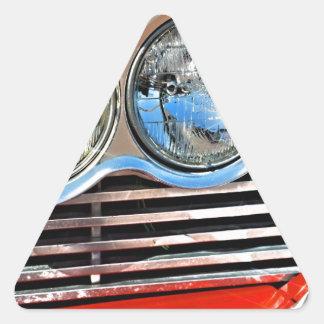 Furia 1958 de Plymouth Pegatina Triangular