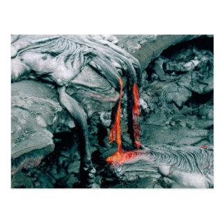 Furia de la lava de la naturaleza postales