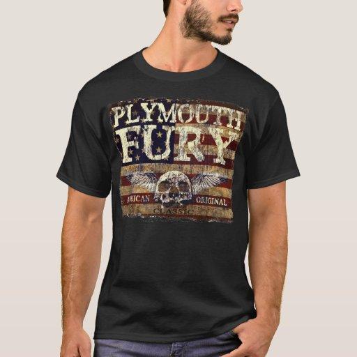 Furia de Plymouth contra bandera erosionada - el Playera