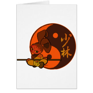 furia del conejito del shaolin del hierro tarjeta de felicitación