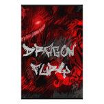 Furia del dragón papeleria personalizada