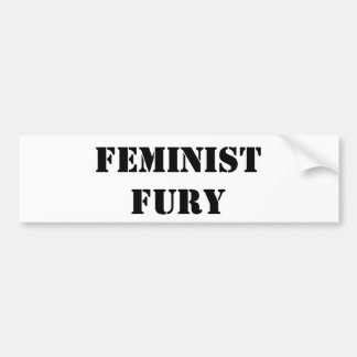 Furia feminista Bumpersticker Pegatina Para Auto