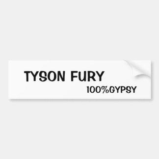 FURIA gitana de la materia y de TYSON Pegatina Para Auto