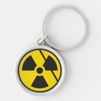 Furia nuclear llavero redondo plateado