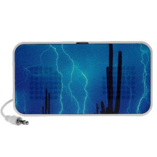 Furioso azul de la tormenta portátil altavoz
