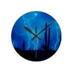 Furioso azul de la tormenta relojes