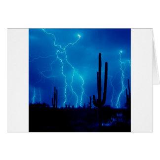 Furioso azul de la tormenta tarjeta de felicitación