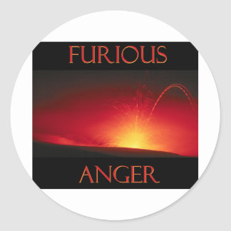 Furious Anger Classic Round Sticker