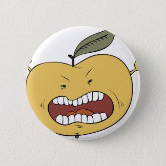 Furious apple pinback button