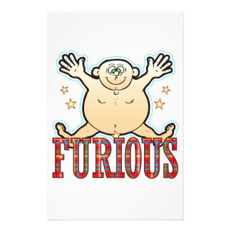 Furious Fat Man Stationery