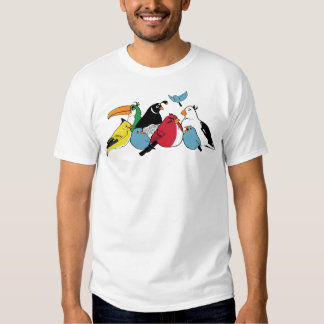 Furious Feathered Friends (White) Shirt