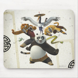 Furious Five Pose Mouse Pad