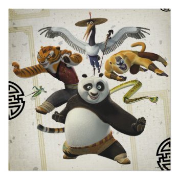 Furious Five Pose Poster by kungfupanda at Zazzle
