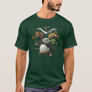 Furious Five Pose T-shirt by kungfupanda at Zazzle