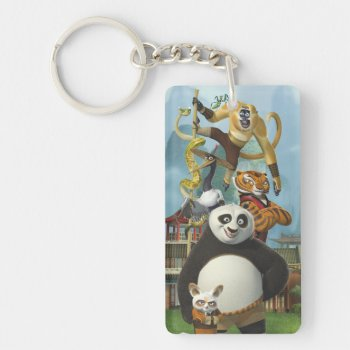 Furious Five Stacked Keychain by kungfupanda at Zazzle