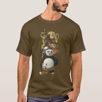 Furious Five Stacked T-shirt by kungfupanda at Zazzle