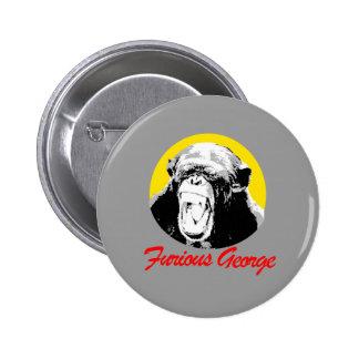 Furious George Pinback Button