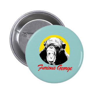 Furious George Pinback Buttons
