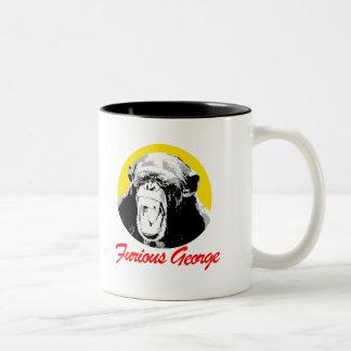 Furious George T-shirt Two-Tone Coffee Mug