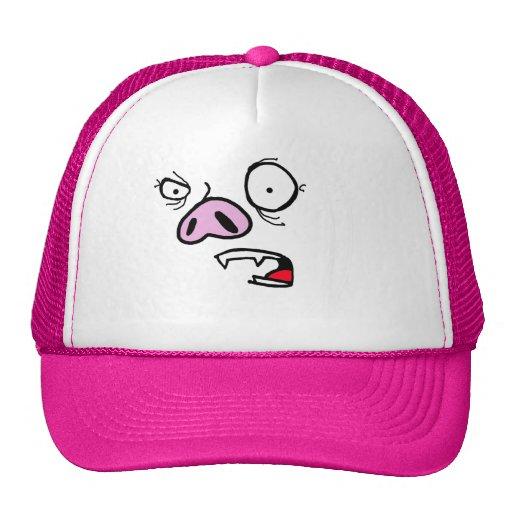 Furious pig face trucker hat