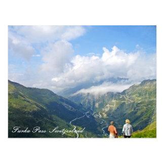 Furka Pass  Switzerland postcard