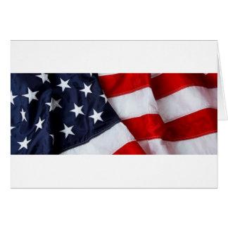 Furled y azul blanco rojo doblado de la bandera am tarjeta de felicitación