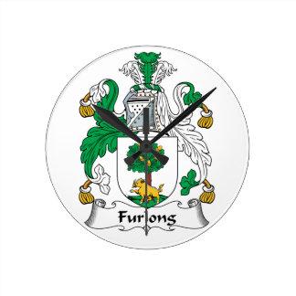 Furlong Family Crest Wall Clock
