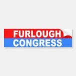 furlough congress car bumper sticker