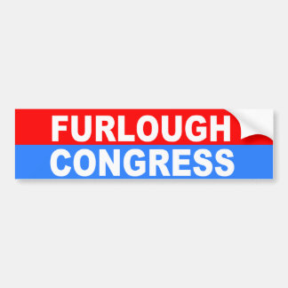 furlough congress car bumper sticker