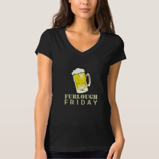 Furlough Friday Beer Mug Casual V T-Shirt