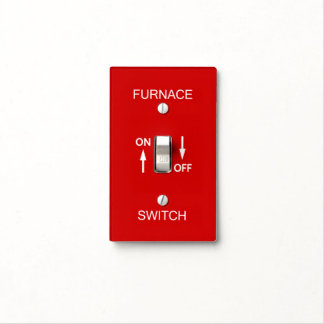 Furnace Emergency Switch Plate Safety Signage