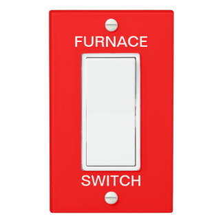 Furnace Emergency Switch Plate Safety Signage