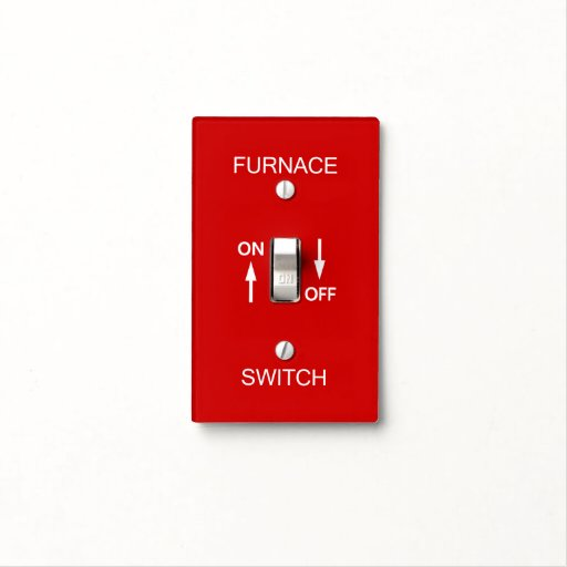 Furnace Emergency Switch Plate Safety Signage Cover Zazzle